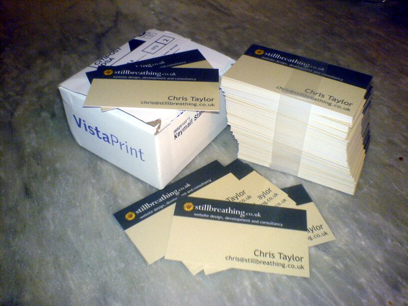 Vistaprint business cards for almost free still breathing business cards by vistaprint reheart Image collections