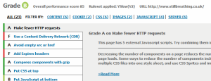 YSlow grade B