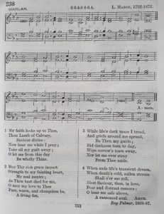 Music for the hymn 'My Faith Looks Up To Thee'