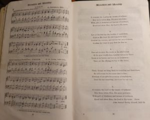 Music for the hymn 'O Worship The Lord In The Beauty Of Holiness'
